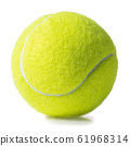tennis ball isolated on white 61968314