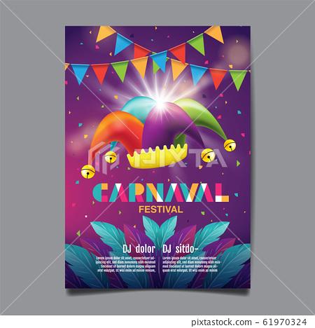 Carnival Poster , Popular Event in Brazil, Mask 61970324