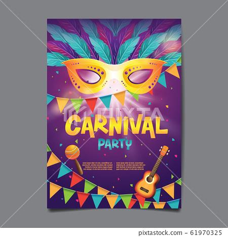 Carnival Poster , Popular Event in Brazil, Mask 61970325