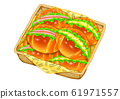 麵包卷(火腿和雞蛋醬) 61971557