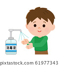 Disinfectant solution Sterilize palm Disinfect Boys Illustration 61977343