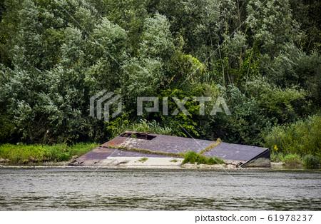remains of pontoon bridge 61978237