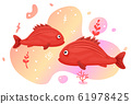 Two cute tropical fish in the sea. 61978425