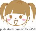 팟튼 여자 미소 정면 머리 트윈 테일 61979459
