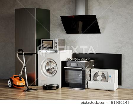 Home appliances. 3d rendering illustration 61980142