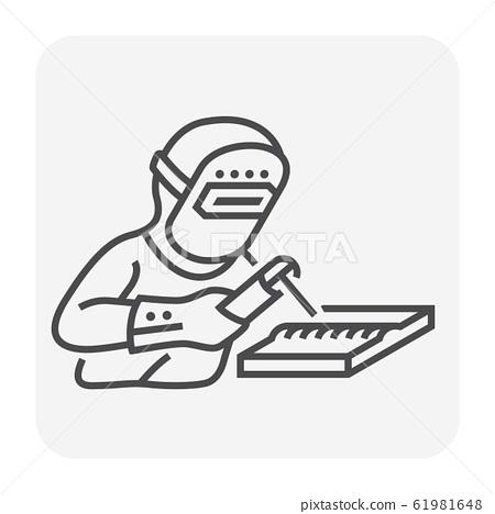 welder welding icon 61981648