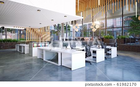 modern office interior, 61982170
