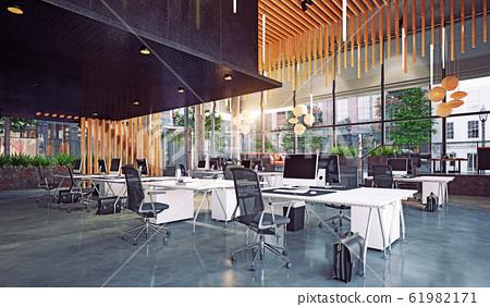 modern office interior, 61982171