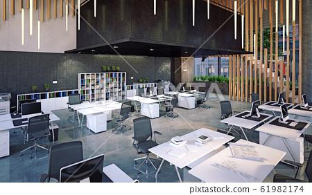 modern office interior, 61982174