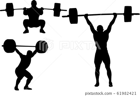 weightlifting silhouettes 61982421