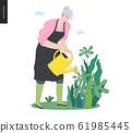 Gardening people, spring 61985445
