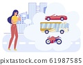 Woman Make Decision what Transport Choose in City 61987585