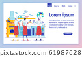 Cafe Employees Flat Vector Landing Page Template 61987628