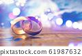 Still life of wedding rings 61987632