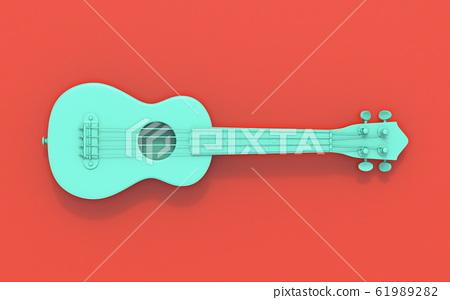 Green soprano ukulele 3D 61989282