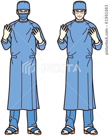 手術衣的醫生 61991863