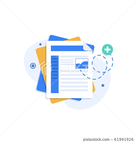 Document design concept set,flat design icon vector illustration 61991926