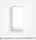 Modern realistic white smartphone. Smartphone with edge side style 61998019