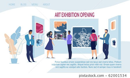 Landing Page Advertising Art Exhibition Opening 62001534