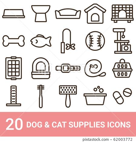 產品圖標狗用品貓用品線20套 62003772