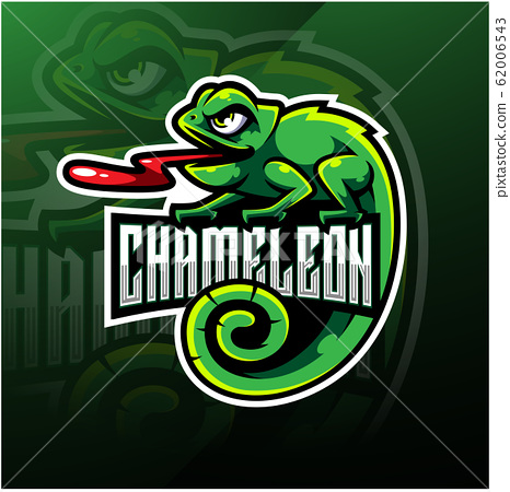 Chameleon esport mascot logo design 62006543