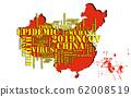 Wuhan coronavirus pandemic concept in word tag 62008519