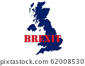 UK Brexit concept in word tag on blue british map 62008530