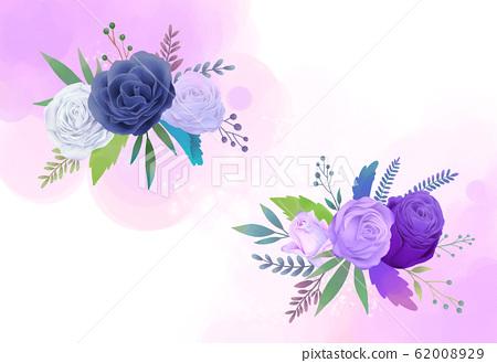 水彩玫瑰圖 62008929