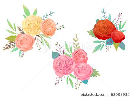 水彩玫瑰圖 62008936