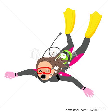 Woman diving 62010362