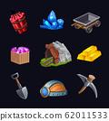 Mining Game Design Icon Set 62011533
