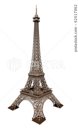 Eiffel Tower isolated on white background 62017862
