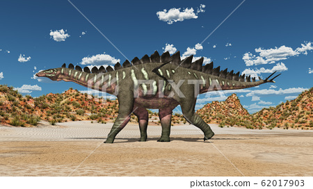 Dinosaur Miragaia in a landscape 62017903