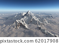 Mountain panorama with clouds 62017908