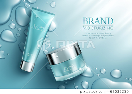 Moisture blue cosmetic set ads 62033259