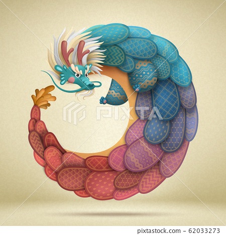 Lovely chinese dragon 62033273