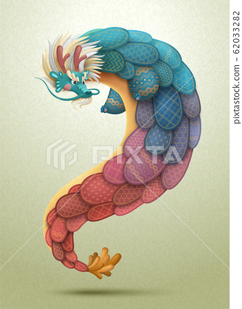 Lovely chinese dragon 62033282