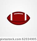 American football ball icon vector illustration 62034905