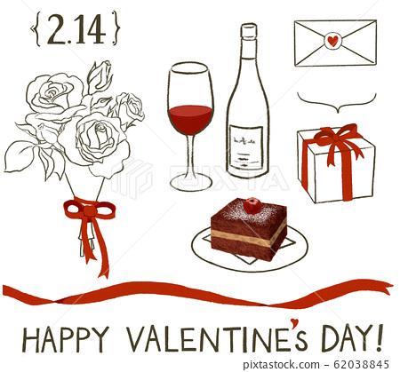 Set of Valentine material 62038845