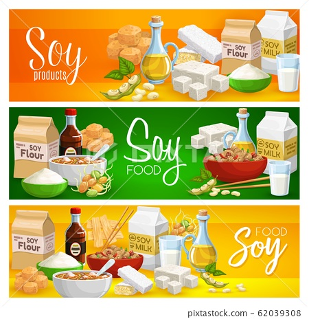 Soy food, milk, tofu cheese and soya meat products 62039308