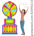 Win Fortune, Lucky Player, Game Machine Vector 62040213
