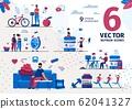 Healthy Nutrition, Dieting Practice Vector Scenes 62041327