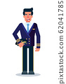 Male pilot flat vector character 62041785