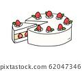 Strawberry cake 62047346