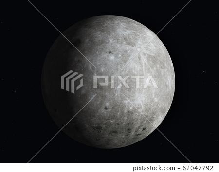 The moon partially illuminated by the sun 62047792
