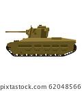 Tank Infantry Mk.II Matilda World War 2 Britain tank. Military army machine war, weapon, battle symbol silhouette side view icon. Vector illustration isolated 62048566