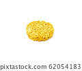 Raw dry instant noodle isolated on white 62054183