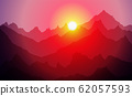 sunrice mountains eps 10 illustration background 62057593