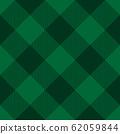 Lumberjack plaid pattern in green colors. Saint Patricks Day theme. Seamless vector pattern. Simple vintage textile design 62059844