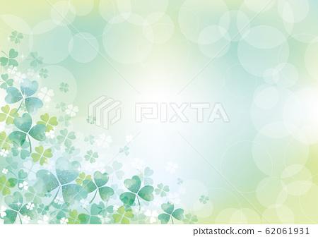 White clover: white clover, spring, spring flowers, grassland, nature, flowers, April, group, sunny weather, blue sky 62061931